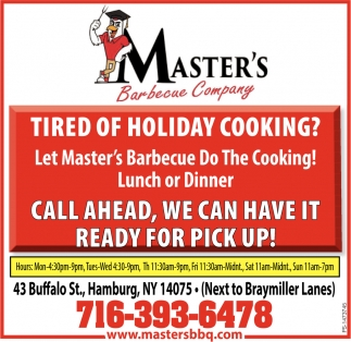 Tired Of Holiday Cooking?