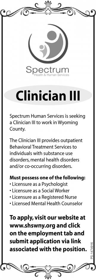 Clinician III