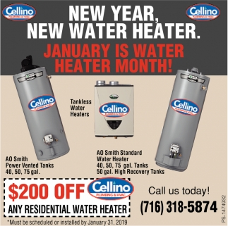 New Year, New Water Heater.