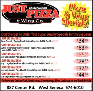 Pizza & Wing Specials!