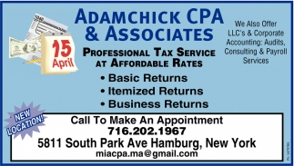 Professional Tax Service At Affordable Rates
