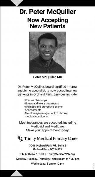 Dr. Peter McQuiller Now Accepting New Patients