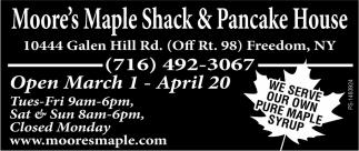 Open March 1 - April 20