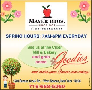 See Us At The Cider Mill & Bakery