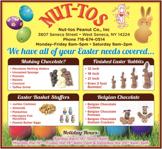 We Have All Of Your Easter Needs Covered
