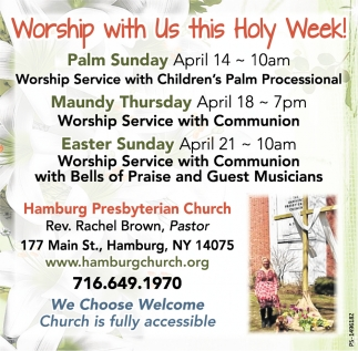 Worship With Us This Holy Week!